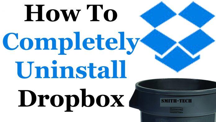 uninstall dropbox
